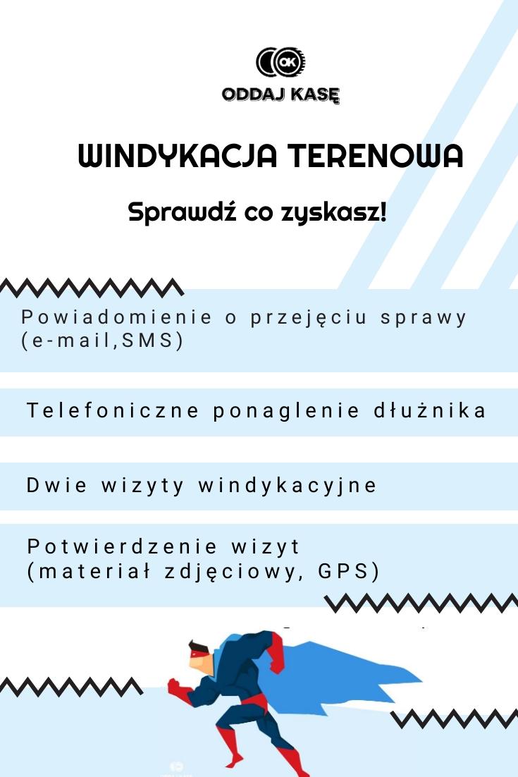 windykacja terenowa, windykujemy.com, zalety